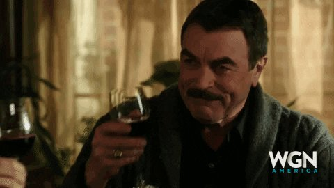 I'm 10 seasons too late but I started watching #BlueBloods last night. #TomSelleck still has his adorable dimples and has aged like a fine wine 😉