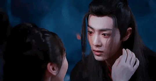 The way Wei Ying's face softens from sheer terror to pure vulnerability when Yanli's hand touches his face... His microexpressions are so important. The Yiling Laozu left and he was just his Shijie's little brother. You can see how much comfort a single touch of hers gives him.
