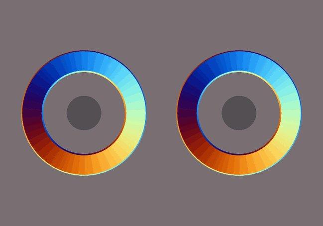突然ですが回転させると大きさが変化して見えるリングを考案しました