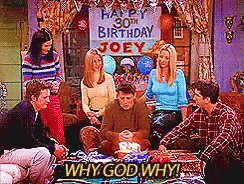 "what's the point of turning thirty if I can't watch ""the one where they all turn 30,"" @netflix?? #friends #thisis30"