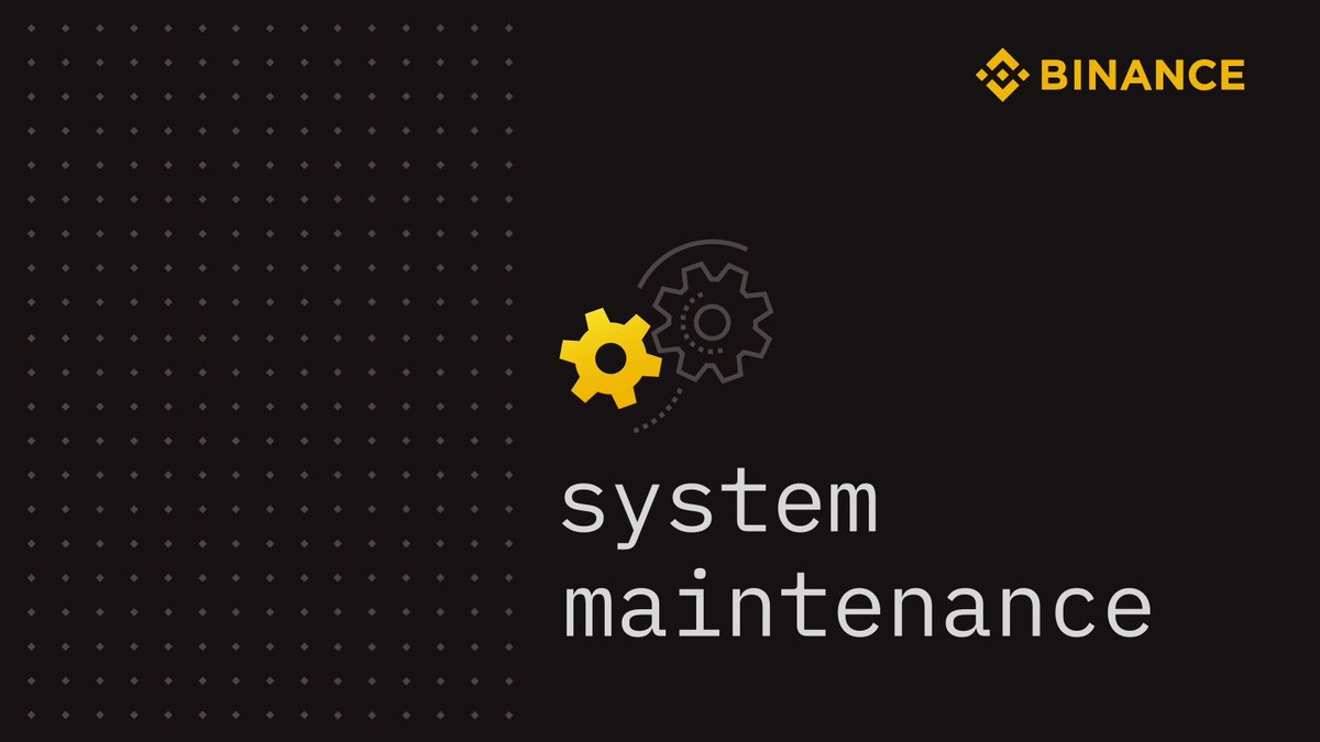 Due to the @binance maintenance, conversion operations, GV Funds operations and Binance symbols on #GenesisMarkets are temporarily unavailable