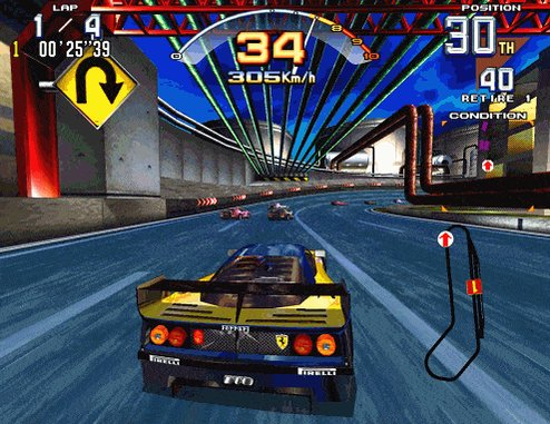 Scud Race was the most incredible looking arcade game in 1996. Jesus.pic.twitter.com/1EQ3ULu0Sl