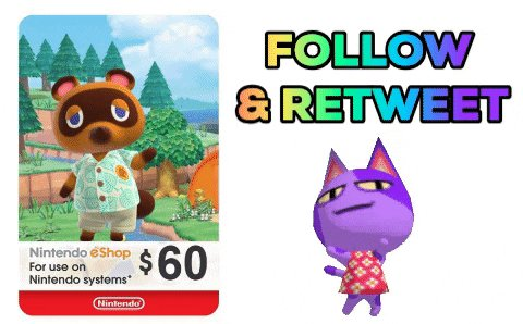 Follow CAG & Retweet for a Chance to Win a $60 eShop Gift Card. Ends Tuesday at  10 PM ET.  #AnimalCrossingDirect
