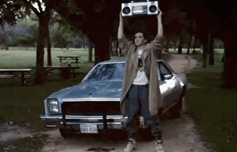 I have to politely disagree.  This was the most romantic moment in cinema history! #sayanything #inyoureyes #lloyddobler4ever