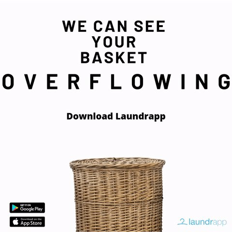 We can see your basket getting bigger and bigger 🧺, don't let it overflow. Download laundrapp and let us take care of your laundry. Leave #Laundry to #Laundrapp 🙌🏻 #Weekend #TGIF #Friday #FridayVibes