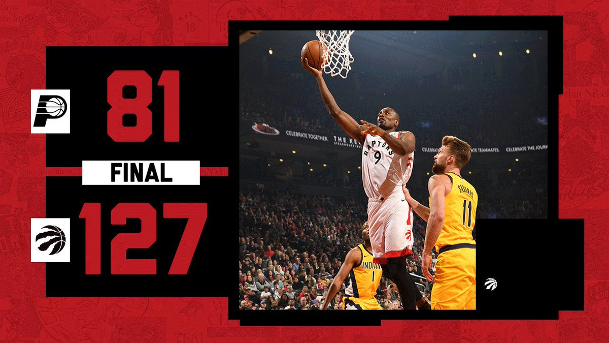 Largest margin of victory in franchise history. #WeTheNorth