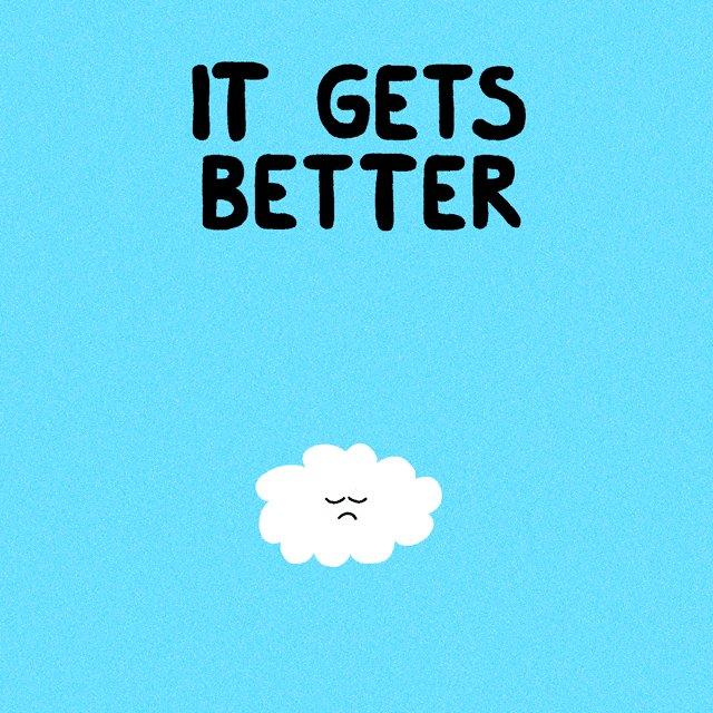 Always remember 🌈☁️ #ItGetsBetter