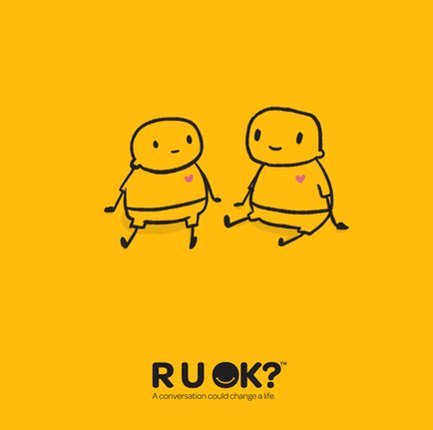 Having the courage to ask someone if they're ok, can make all the difference. A conversation can change a life!