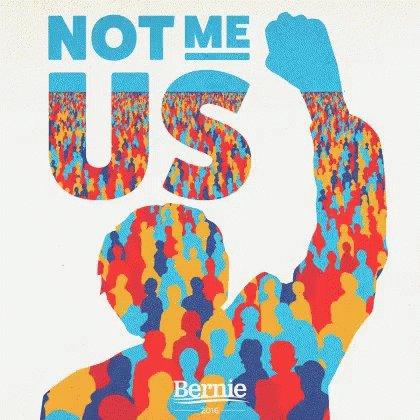 We're all here, @SergioJSiano!  Welcome #Bernie2020 #NotMeUs #WithTheseHands #OnlyBernie #2020WillBeTheYearFor #PresidentSanders #HelloSomebody #ILikeBernie #IEndorseBernie