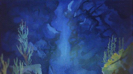 Le poisson lune , Nage à travers les coraux , Valse marine. haiku. Bonne fin de journée.