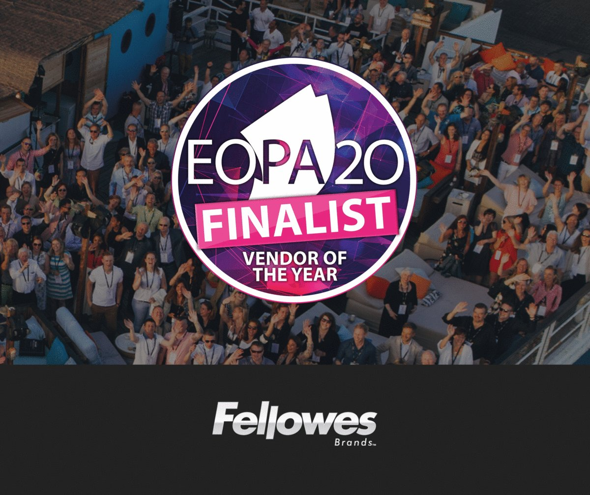 We are so excited and proud of being shortlisted as finalists in five categories for the European Office Products Awards! #EOPA2020 #Awards #WorkBetterFeelBetter #finalists #TheFellowesWay  You can find the full shortlist and #EOPA2020 Event Preview here: http://bit.ly/3ai6Ucl