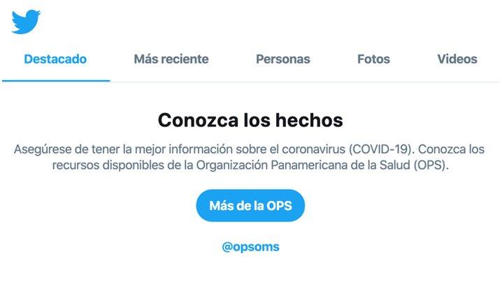 Hoy activamos avisos localizados de búsqueda en Colombia y Paraguay en colaboración con @MinSaludCol y @msaludpy. En el resto de Hispanoamérica verás información de la @opsoms.  Seguimos trabajando con aliados locales para ayudarte a acceder a información confiable sobre COVID-19