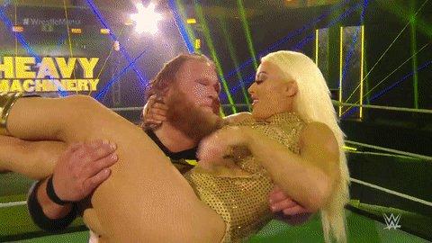 BEST. #WRESTLEMANIA MOMENT. EVER. 💋  @otiswwe @WWE_MandyRose