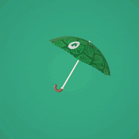 Did I really spend my evening making an Animal Crossing umbrella in cinema4D? You bet your sweet bells I did.
