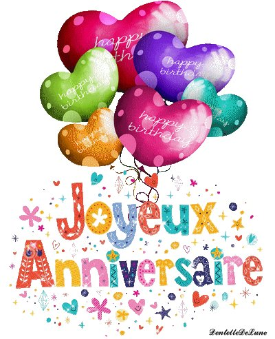 happy birthday to you    greetins and love from France