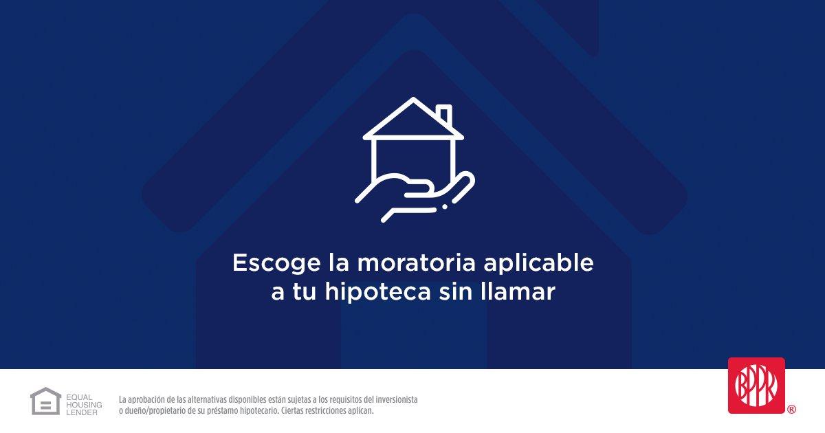 Accede lanuevaherramientadigitalpara acogerte al programa de moratoria aplicable a tu hipoteca sin tener que llamar: https://pop.pr/2UxAJkepic.twitter.com/AFTVVW0kUj