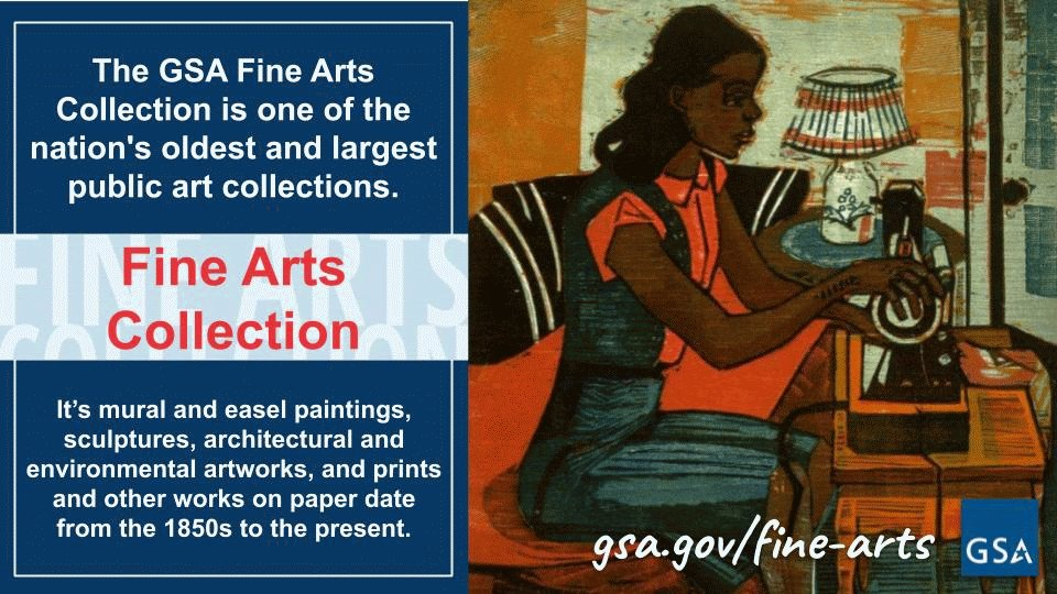 #TipTuesday - GSA's Fine Arts Collection is one of the nation's largest public art collections, dating from the 1850s to the present. The 23,000+ civic artworks are displayed in federal buildings and courthouses nationwide.   View the collection online: https://t.co/rhJg50zZCt