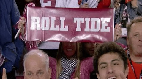 Fans at an Alabama sports g...