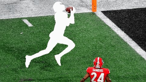 Image for the Tweet beginning: Help DeVonta Smith catch this