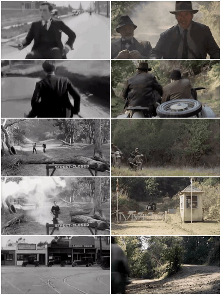 Sherlock Jr/Indiana Jones and the Last Crusade  #sidebyside #busterkeaton #influence #movies #cinema #film #silentfilm #silentmovies #harrisonford #seanconnerypic.twitter.com/WmmalBSYPG
