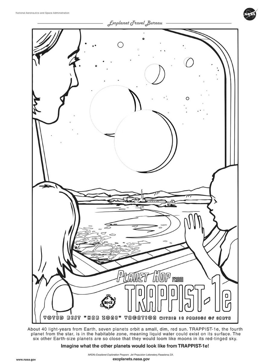 Download our Exoplanet Coloring Pages and #ColorWithNASA ... | 1200x894