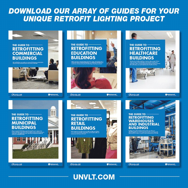 6 guides with lighting solutions for your facility.  #ULT #Retrofit #LED