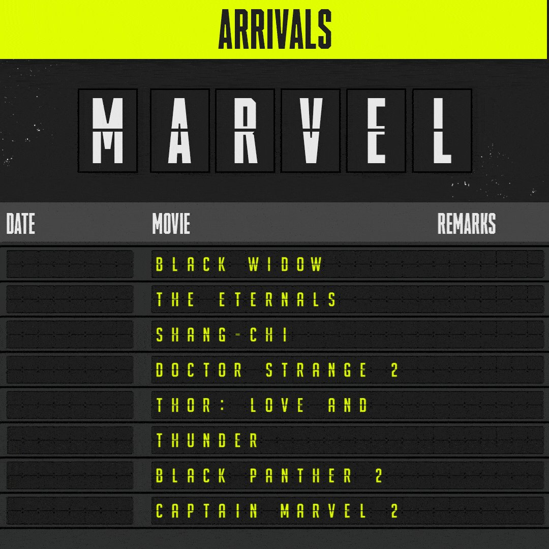Bad news: #Marvel delayed all of its upcoming movies. Good news: We have the new arrival times!