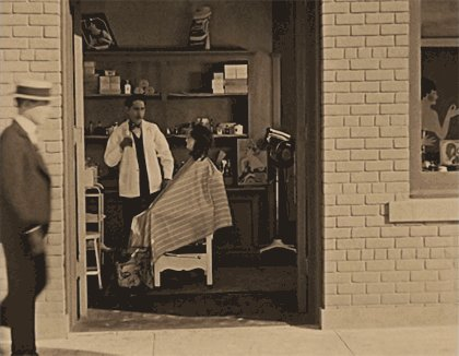 Buster Keaton trying to find a woman to marry him in Seven Chances (1925)