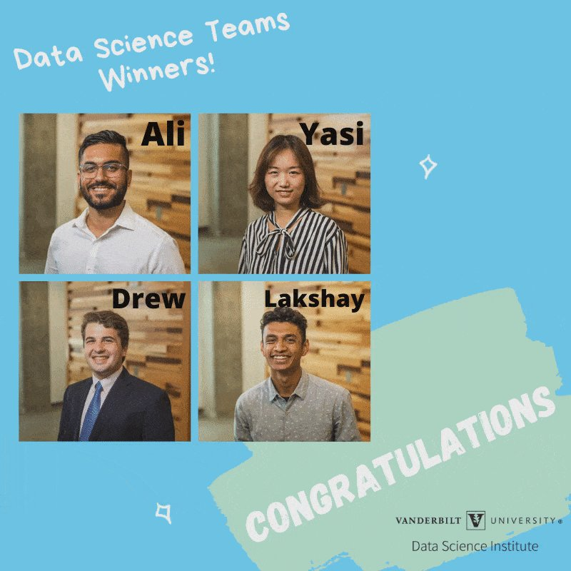 Our DS Teams class, taught by @cassyld, partnered with industry client @TheGeneralAuto for a final project to create a predictive modeling approach for their needs. Our first place prize goes to Ali, Yasi, Lakshay, and Drew! Runners up: Joey, Umang, Wenying, and Baiyu. Congrats!