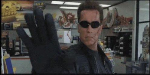 Talk To The Hand Arnold Schwarzenegger GIF