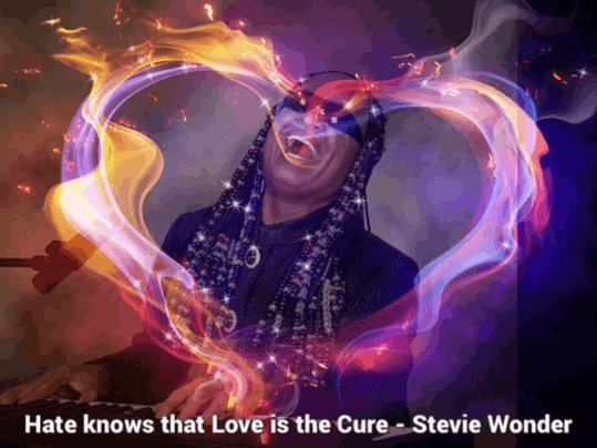Happy 70th Birthday Stevie Wonder! Hate knows that Love is the Cure -