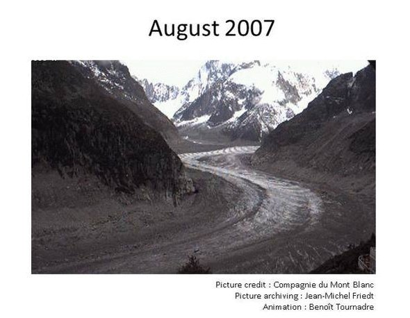 The Mer de Glace glacier in french Alps between 2007 and 2019. Thanks to Compagnie du Mont Blanc for webcams (@MONTBLANC_NR ) and to Jean-Michel Friedt for archiving. Find it on #shareEGU20 timeline of climate science history: https://t.co/vddKWy2Nwk