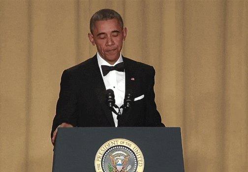barack obama mic drop GIF