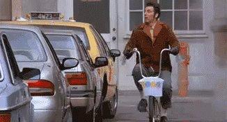 Bicycle Salute - Seinfeld GIF