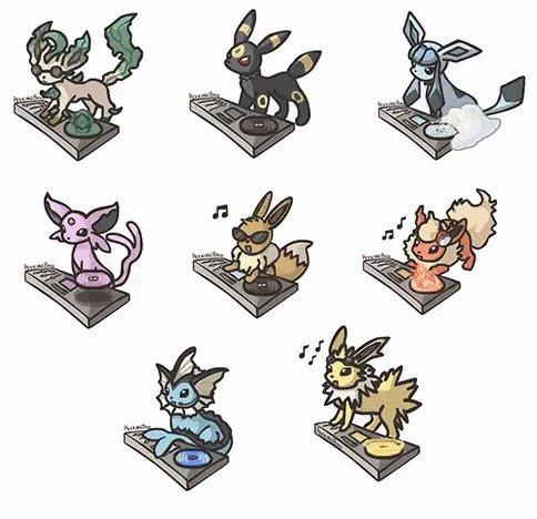 Eeveelutions Pokemon GIF