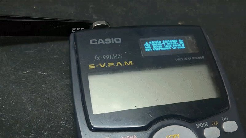 Calculator hacked for cheating includes a secret OLED screen, wifi, and even a chat