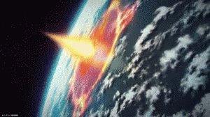 地球爆発 破壊 終わり 宇宙 GIF