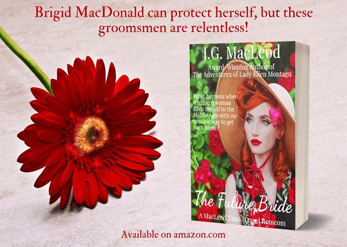 #FutureBride is a fun #romcom #adventure to make you #laugh & #love.  Brigid MacDonald is a coffee barista who has been transported to 15th-c #Scotland where she's being dressed for a #wedding she didn't consent to!  #PositiveVibes #Romance #Skye #fiction  https://www.amazon.com/Future-Bride-MacLeod-Time-Travel-Romcom-ebook/dp/B07YK4J8VY…pic.twitter.com/1BxNyBCVrx