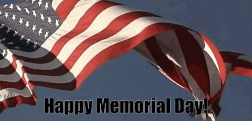 Happy Memorial Day everyone! Here's to remembering all those who have served, are serving and will serve in the future. Your sacrifices are greatly appreciated and not forgotten. #USA pic.twitter.com/bN8Wka4TcF