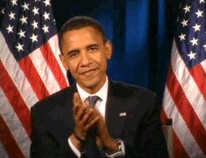 barack obama applause GIF