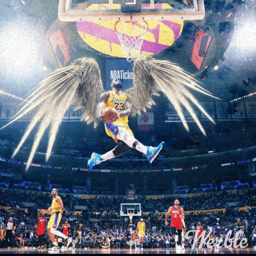 A quick edit👌🏻💯 @KingJames 🤴🏿 🏀 #NBA #basketball #LebronJames #Kingjames #FlyandSoarThroughTheAir https://t.co/kRg0h5h3VG