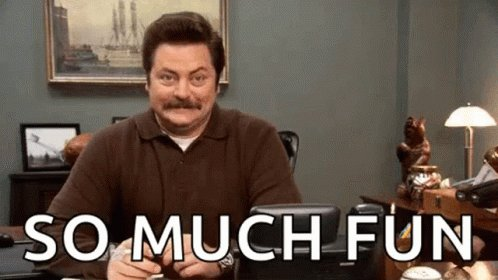 Excited Ron Swanson GIF