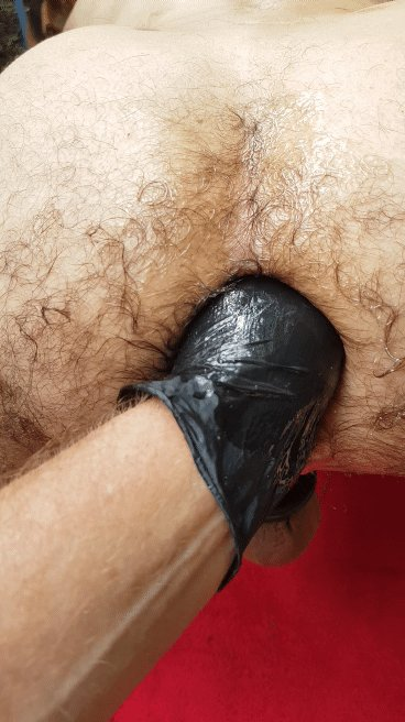 Hairy gay fisting
