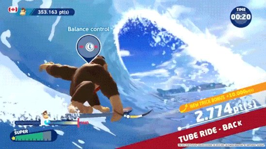 Donkey Kong: mastering barrels since way back when.  Now master the waves in Mario & Sonic at the Olympic Games Tokyo 2020 for $20 off on Nintendo Switch!