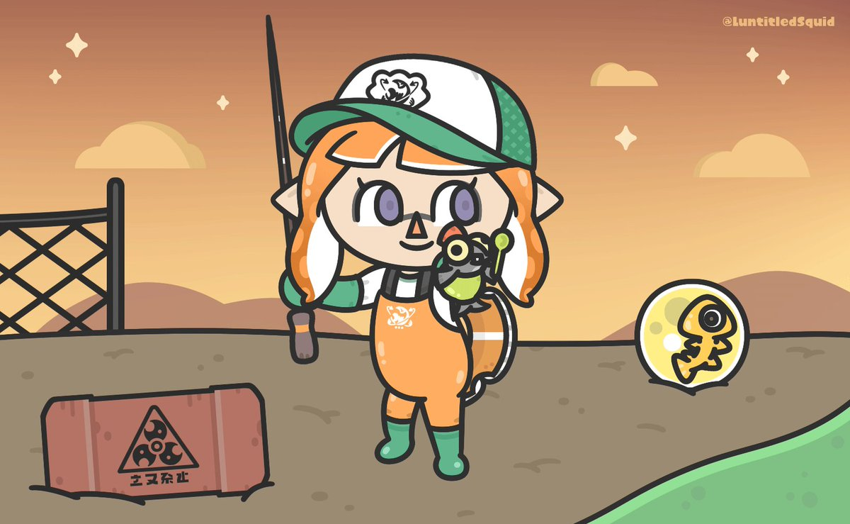 Replying to @LuntitledSquid: I caught a Smallfry! 🎣🏝️ [#Splatoon #スプラトゥーン #ACNH]