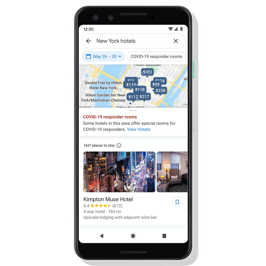 """Reducing the risk of bringing something home to my family has made a huge difference in my peace of mind.""  Google Search and @GoogleMaps are making it easier for frontline, medical and essential workers to find hotels offering special accommodations → https://t.co/R8SSJDLSRL https://t.co/MMxjY1LtDx"