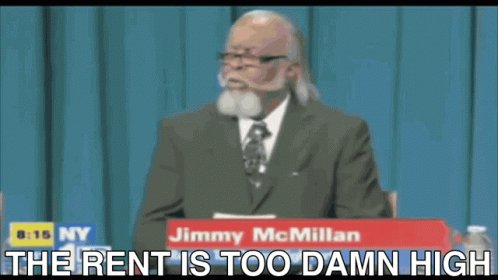 The Rent Is Too Damn High Tent GIF