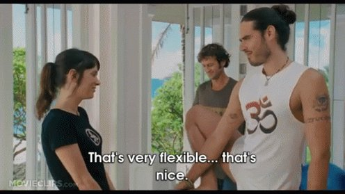 flexible russell brand GIF