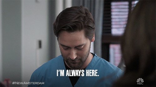 Max Goodwin takes no days off from helping #NewAmsterdam. 👏