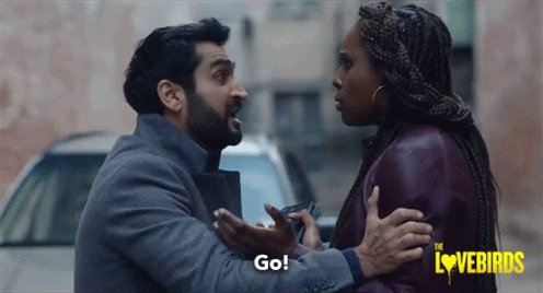 I just watched The Lovebirds and I now have a crush on Kumail Nanjiani and Issa Rae. They're sah cute.
